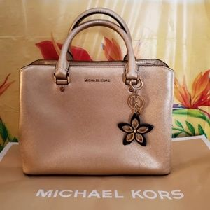 Michael Kors Gold Tone Satchel